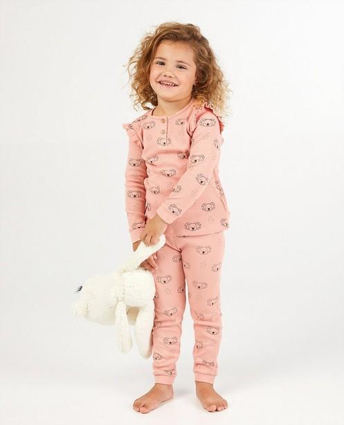 2-delige pyjama in roze - met koalaprint - Milla Star