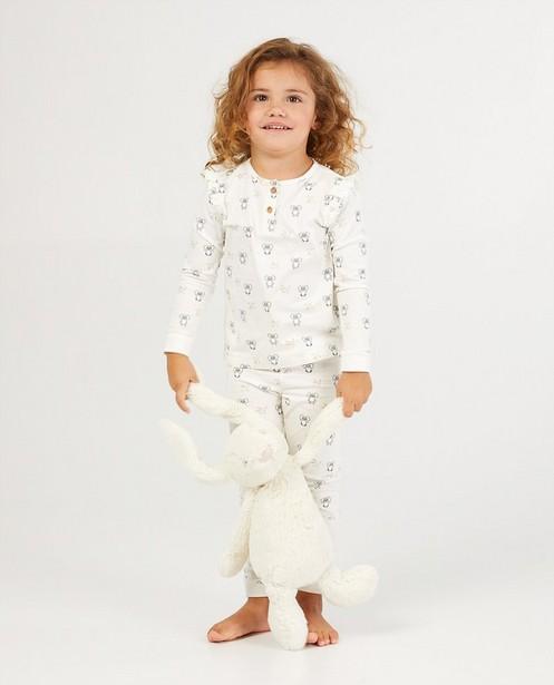 2-delige pyjama in wit - met allover print - Milla Star