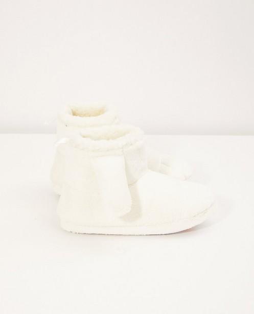 Pantoufles blanches Benji - avec des oreilles de lapin - JBC