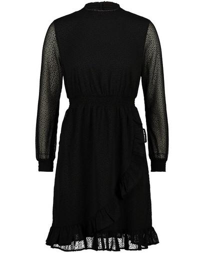Zwarte jurk met stippenprint Sora