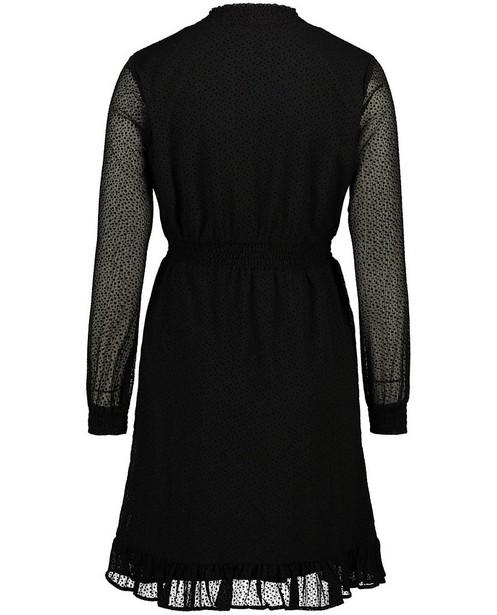Robes - Zwarte jurk met stippenprint Sora