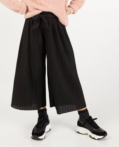 Pantalons - Zwarte plissébroek