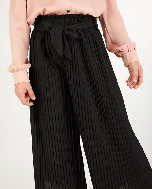 Broeken - Zwarte plissébroek