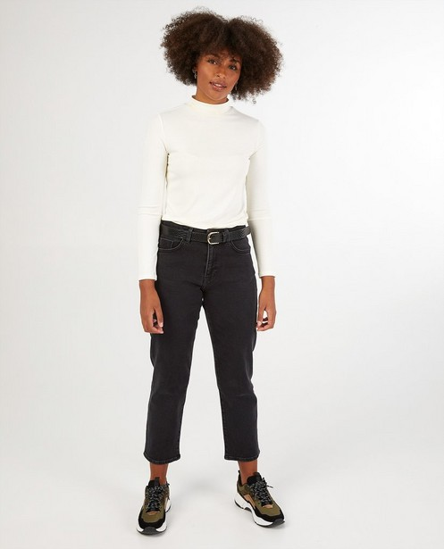 Jeans straight noir Youh! - mid rise - YOUH!