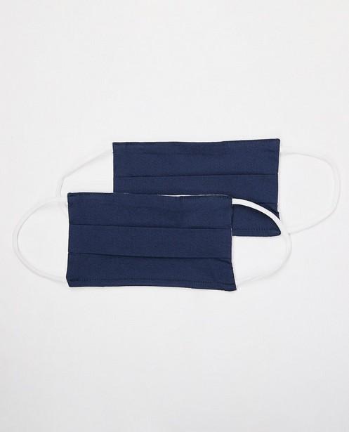 2 marineblauwe mondmaskers - unisex - set van 2 - JBC