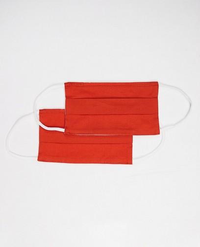 2 oranje mondmaskers - unisex