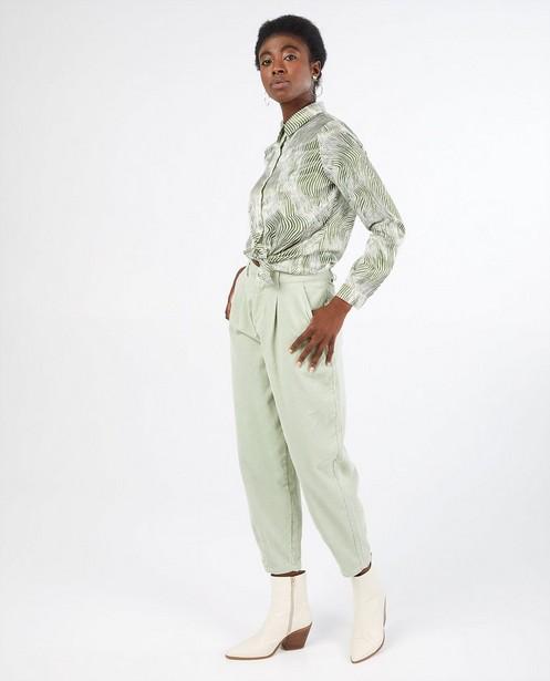 Pantalon vert pâle en velours côtelé Youh! - grosses côtes - YOUH!