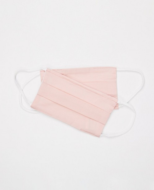 2 masques rose pâle - unisexe - ensemble de 2 - JBC