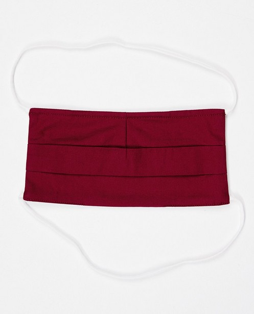 Gadgets - 2 wijnroze mondmaskers - unisex