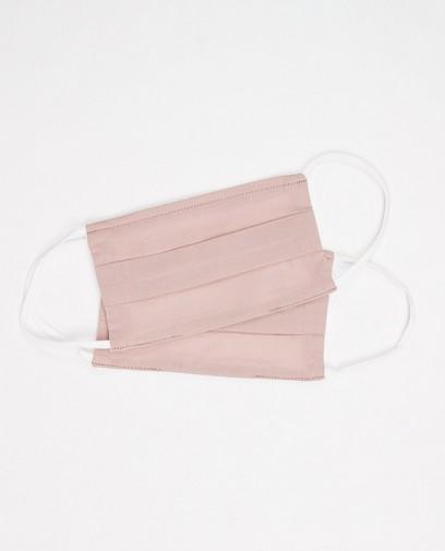 2 taupe roze mondmaskers - unisex