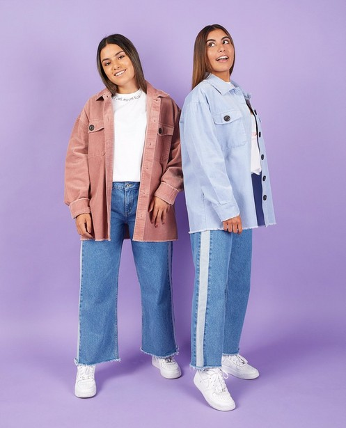 Jeans bleu Nour & Fatma - avec effilochures - Nour en Fatma