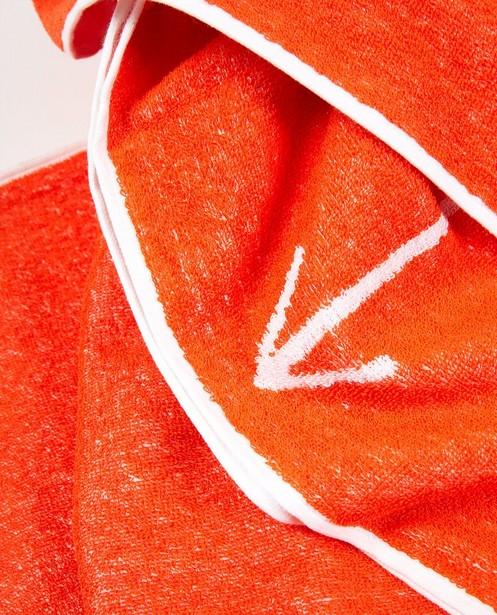 Bonneterie - Serviette de bain orange anti-coronavirus