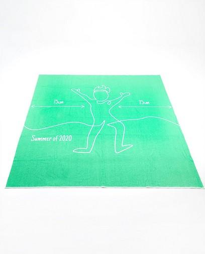 Groen corona-proof badlaken