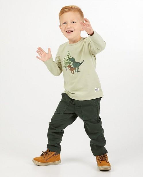Pantalon vert foncé avec cordon - taille élastique - Kidz Nation