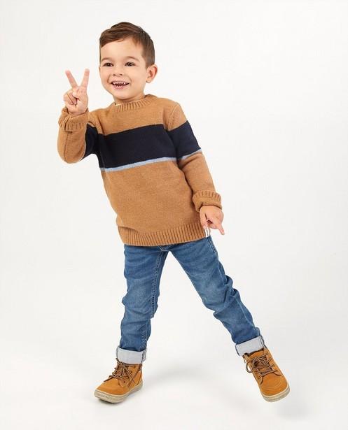 Pull brun à rayures, 3-7 ans - #familystoriesJBC - Familystories