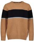Truien - Bruine trui met streep, 3-7 jaar