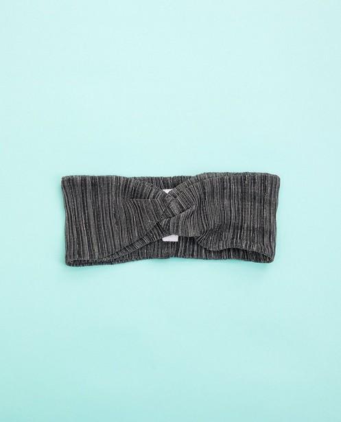 Bandeau gris foncé - avec fil métallisé - Fish & Chips