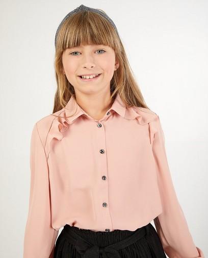 Roze hemd met volants