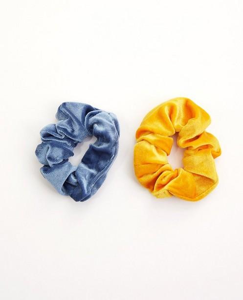 Lot de 2 chouchous - jaune ocre - gris bleu - jbcc