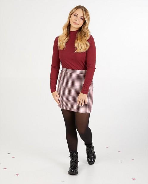 Rode rok met print Steffi Mercie - pied-de-poule - Steffi Mercie