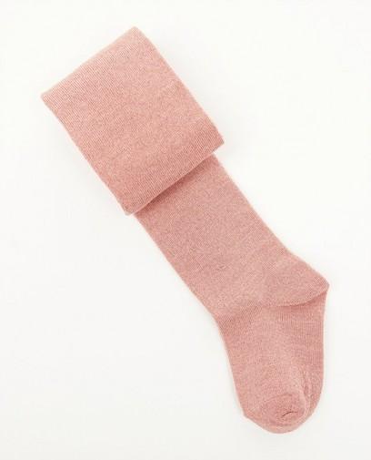 Roze kousenbroek met metaaldraad
