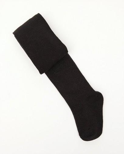 Zwarte kousenbroek met metaaldraad