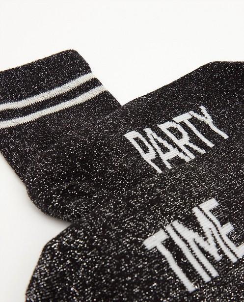 Chaussettes - Zwarte kousen met metaaldraad