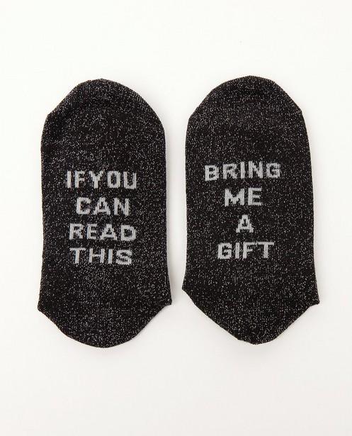 Chaussettes - Zwarte kousen met opschrift