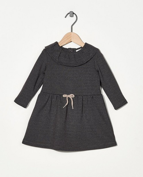 Donkergrijze jurk met metaaldraad - allover - Cuddles and Smiles