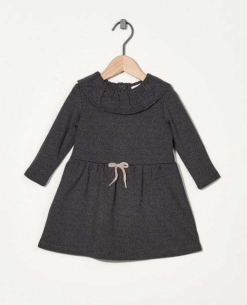 Robe gris foncé avec fil métallisé - imprimé intégral - Cuddles and Smiles