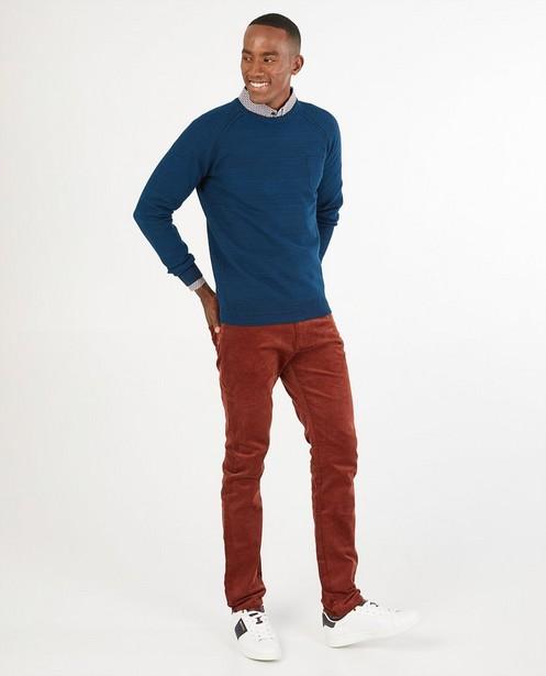 Pull bleu Hampton Bays - en fin tricot - Hampton Bays
