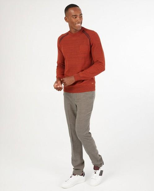 Pull rouge Hampton Bays - en fin tricot - Hampton Bays