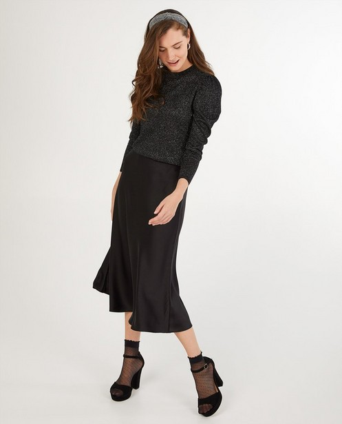 Zwarte trui met metaaldraad Sora - allover - Sora