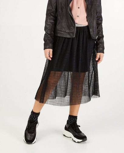 Zwarte rok met stippen