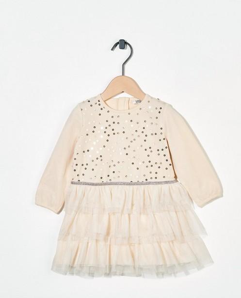 Off-white jurk met tule - met pailletten - Cuddles and Smiles