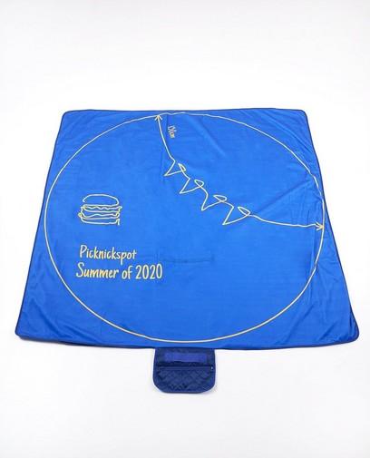 Blauw corona-proof picknickdeken