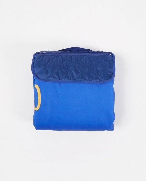 Bonneterie - Couverture pique-nique bleue anti-coronavirus