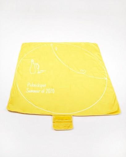 Geel corona-proof picknickdeken