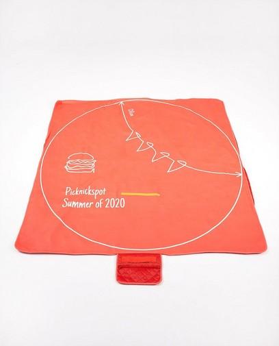 Oranje corona-proof picknickdeken