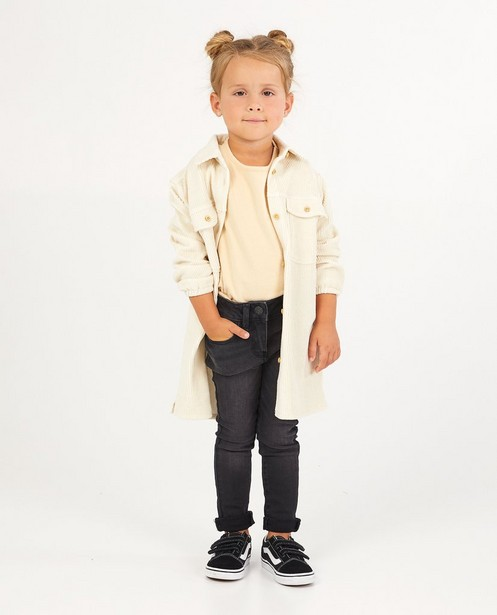 Skinny noir Marie, 2-7 ans - effet délavé - JBC