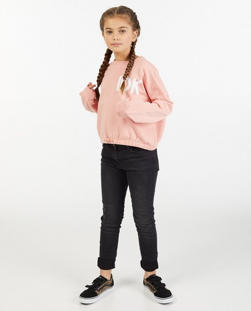 Skinny noir Marie, 7-14 ans - effet délavé - JBC