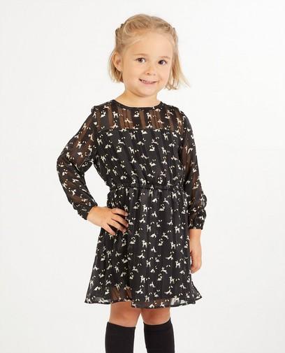 Zwarte jurk met print