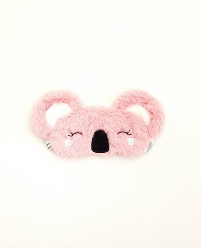 Masque de nuit rose - koala