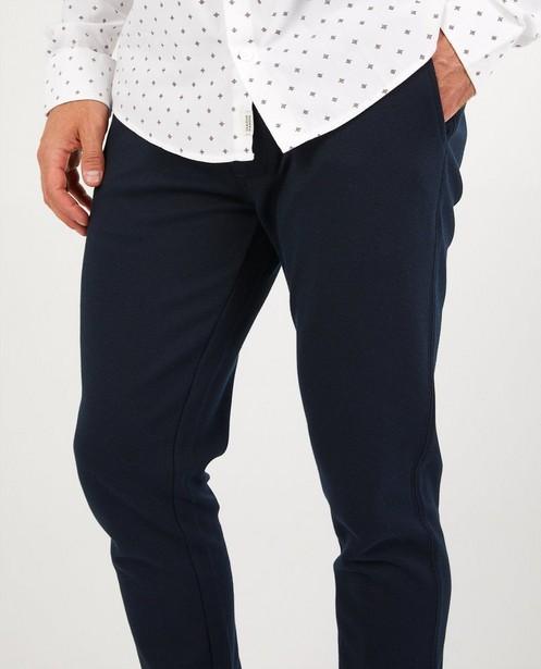 Broeken - Blauwe geklede broek League Danois