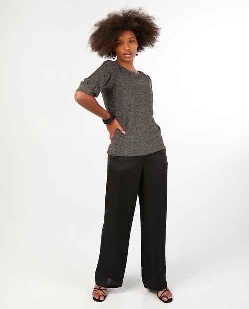 Donkergrijze blouse Sora - met metaaldraad - Sora