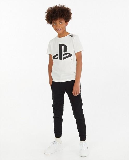 T-shirt blanc à imprimé PlayStation - effet 3D - Playstation