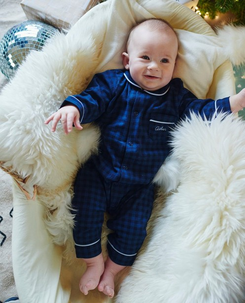 Pyjama bleu pour bébés, Studio Unique - personnalisable - JBC