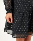 Robes - Zwarte jurk met streepjes
