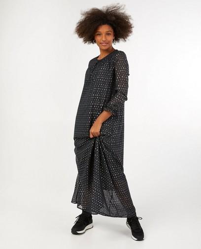 Zwarte jurk met metaaldraad Sora