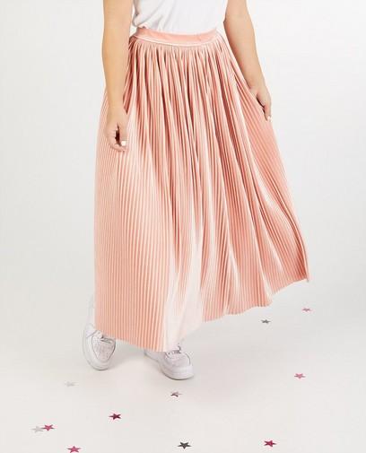 Fluwelen rok in roze Steffi Mercie